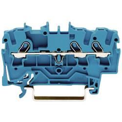 Průchozí svorka Wago 2001-1304, pružinová, 4,2 mm, modrá