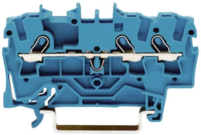 Priechodná svorka WAGO 2001-1304, osadenie: N, pružinová svorka, 4.20 mm, modrá, 1 ks