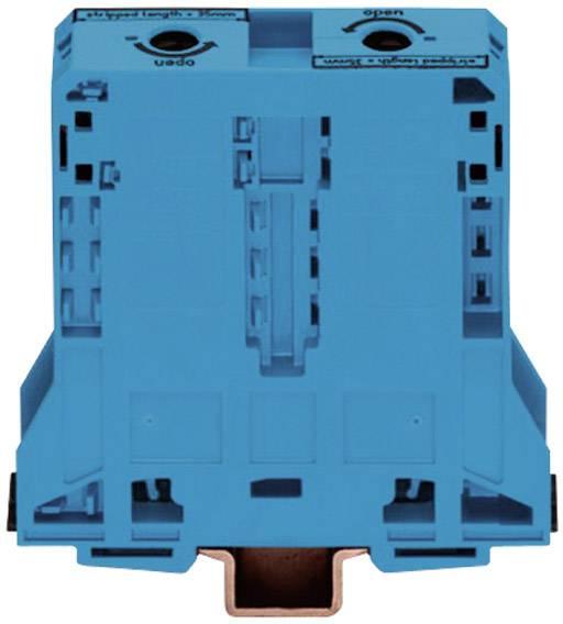 Priechodná svorka WAGO 285-194, osadenie: N, pružinová svorka, 25 mm, modrá, 1 ks