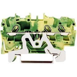 Svorka ochranného vodiča WAGO 2001-1307, osadenie: PE, pružinová svorka, 4.20 mm, zelenožltá, 1 ks