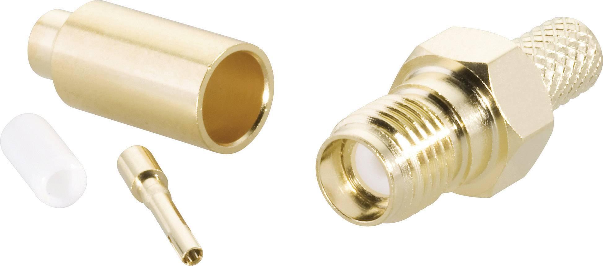 SMA konektor BKL 409089, 50 Ω, zásuvka