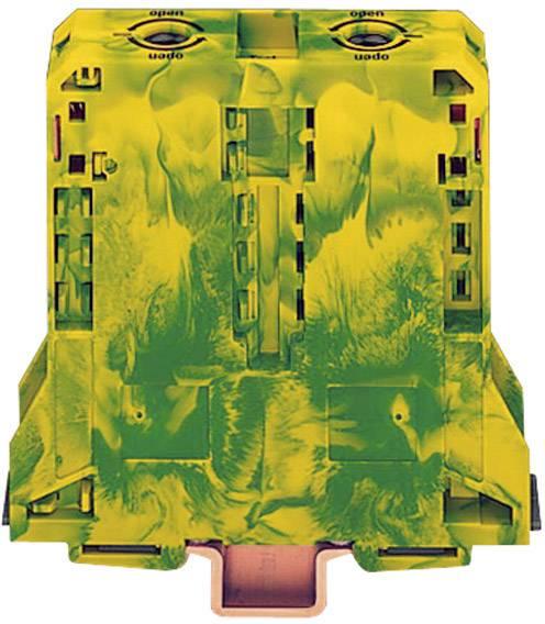 Svorka ochranného vodiča WAGO 285-197, osadenie: Terre, pružinová svorka, 25 mm, zelenožltá, 1 ks