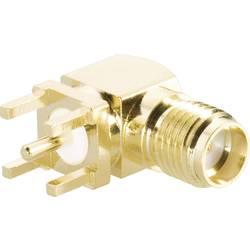 SMA reverzní konektor BKL 419013, 50 Ω, zásuvka vestavná úhlový