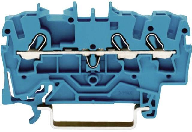 Priechodná svorka WAGO 2002-1304, osadenie: N, pružinová svorka, 5.20 mm, modrá, 1 ks