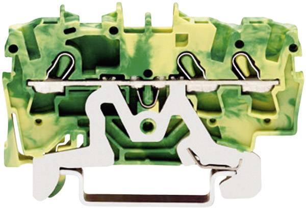Svorka ochranného vodiča WAGO 2002-1307, osadenie: Terre, pružinová svorka, 5.20 mm, zelenožltá, 1 ks