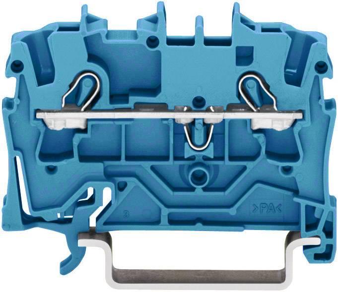 Priechodná svorka WAGO 2002-1204, osadenie: N, pružinová svorka, 5.20 mm, modrá, 1 ks