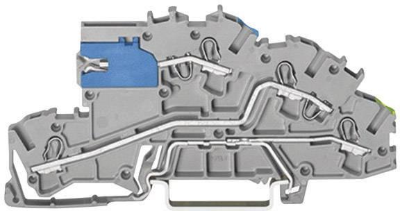 Inštalačná svorka WAGO 2003-7641, osadenie: NT, L, Terre, pružinová svorka, 5.20 mm, sivá, 1 ks