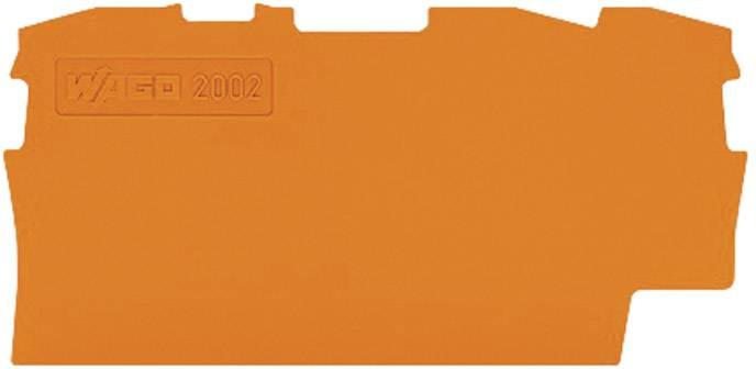 Koncová destička Wago 2002-1392, oranžová