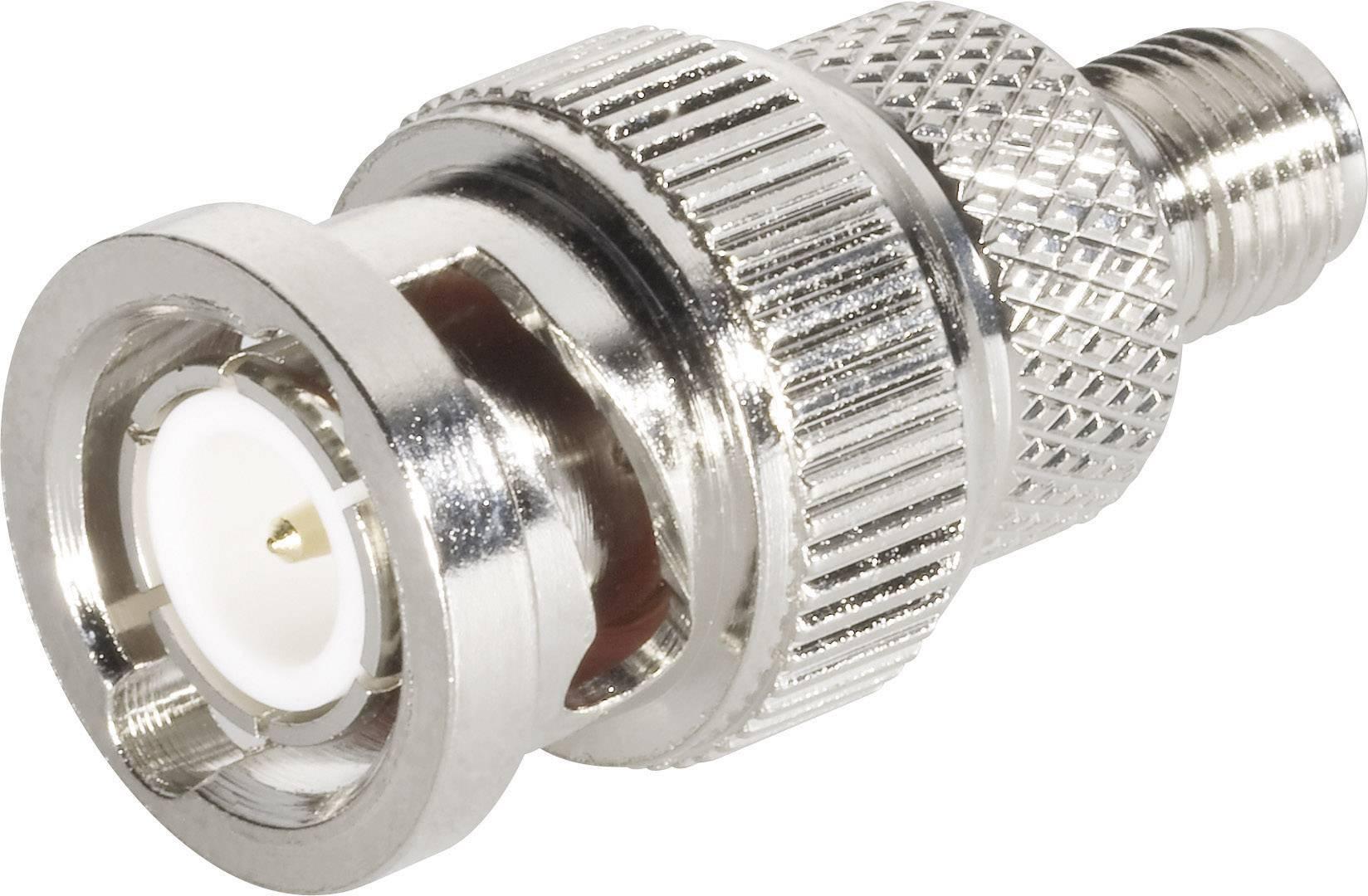 SMA zásuvka / BNC zástrčka BKL Electronic 409042, 50 Ω, 5000 MΩ, adaptér rovný