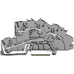 Inštalačná svorka WAGO 2003-7642, osadenie: L, L, pružinová svorka, 5.20 mm, sivá, 1 ks