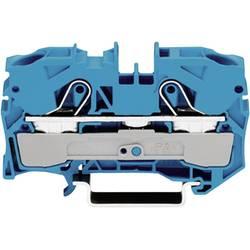 Priechodná svorka WAGO 2010-1204, osadenie: N, pružinová svorka, 10 mm, modrá, 1 ks