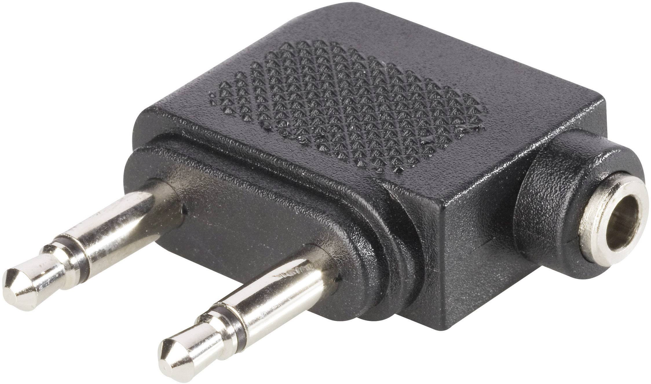 Jack audio Y adaptér BKL Electronic 1102031, čierna