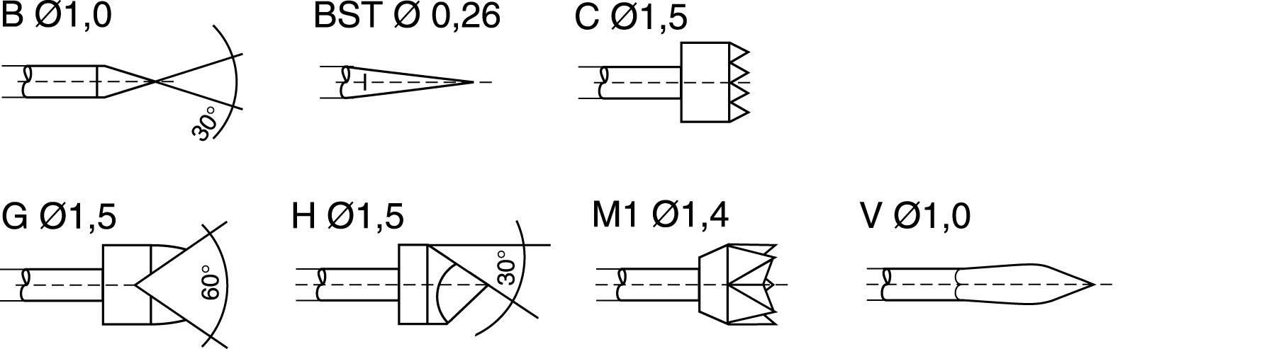 Zkušební hrot PTR 1025/E-V-1.5N-AU-0.9