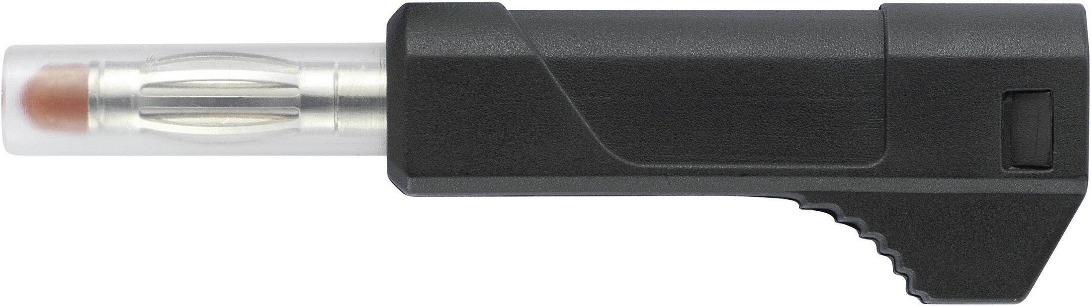 Mini lamelová zástrčka SCI R8-103 B – zástrčka, rovná, Ø hrotu: 4 mm, čierna, 1 ks