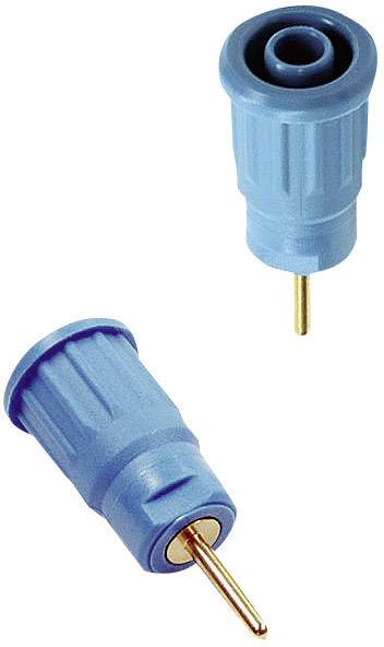 Lisovaná bezpečnostní zdířka MultiContact SEB4-R, válcový konektor, modrá