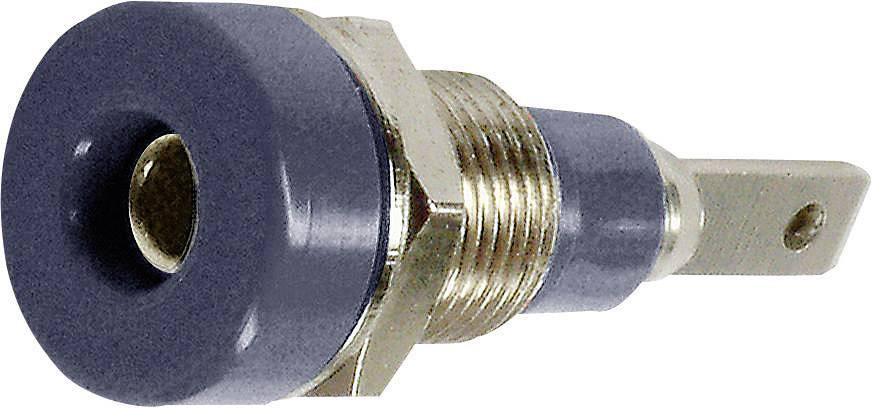 Laboratórna zásuvka Stäubli LB-I2R – zásuvka, vstavateľná vertikálna, Ø hrotu: 2 mm, čierna, 1 ks