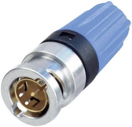 BNC konektor zástrčka, rovná Neutrik NBNC75BLP9, 75 Ohm, 1 ks