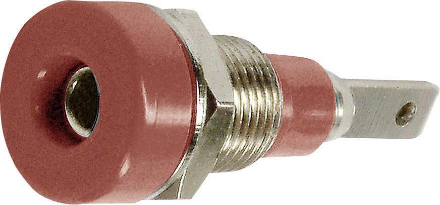 Laboratórna zásuvka Stäubli LB-I2R – zásuvka, vstavateľná vertikálna, Ø hrotu: 2 mm, červená, 1 ks