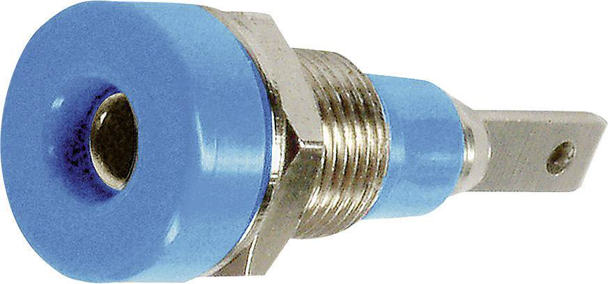 Laboratórna zásuvka Stäubli LB-I2R – zásuvka, vstavateľná vertikálna, Ø hrotu: 2 mm, modrá, 1 ks