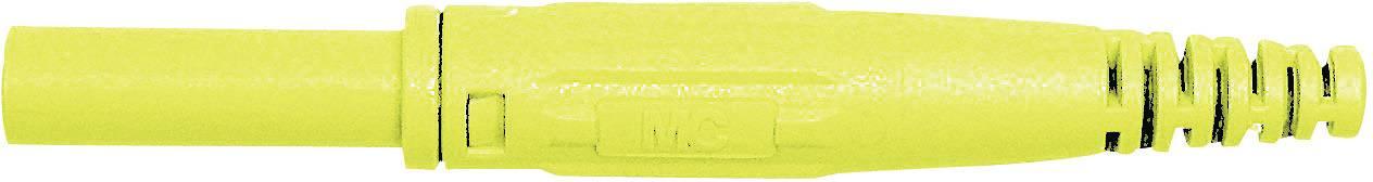 Laboratórna zásuvka Stäubli XK-410 – zásuvka, rovná, Ø hrotu: 4 mm, žltá, 1 ks
