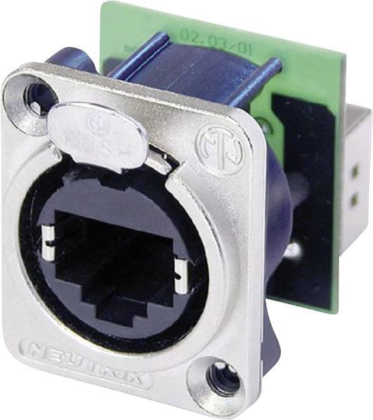 Konektor RJ45 EtherCon Neutrik NE 8 FDP, zásuvka rovná, niklová