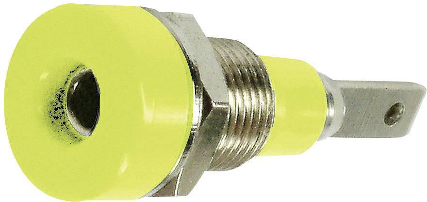 Laboratorní konektor Ø 2 mm MultiContact 23.0030-24, zásuvka vestavná vertikální, žlutá