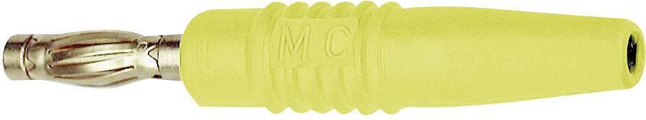Lamelová zástrčka Stäubli SLS425-L – zástrčka, rovná, Ø hrotu: 4 mm, žltá, 1 ks