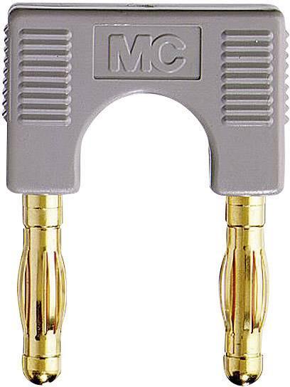 Spojovací konektor Stäubli EK-400, Ø hrotu 4 mm, rozostup hrotov 19 mm, sivá, 1 ks