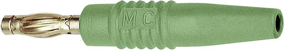 Lamelová zástrčka Stäubli SLS425-L – zástrčka, rovná, Ø hrotu: 4 mm, zelená, 1 ks