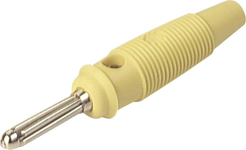 Banánový konektor SKS Hirschmann BUELA 30 K – zástrčka, rovná, Ø hrotu: 4 mm, žltá, 1 ks