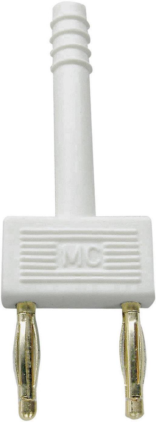 Bezpečnostný konektor Stäubli KS2-10L, Ø hrotu 2 mm, rozostup hrotov 10 mm, biela, 1 ks