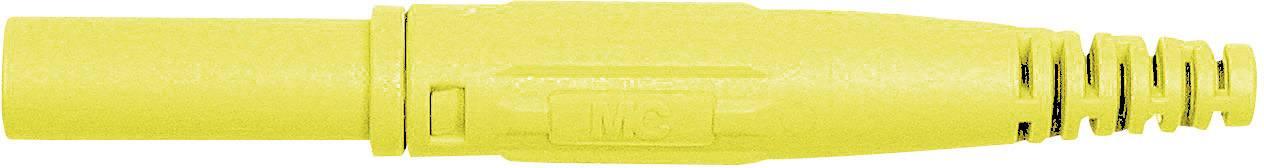 Laboratórna zástrčka Stäubli XL-410 – zástrčka, rovná, Ø hrotu: 4 mm, žltá, 1 ks
