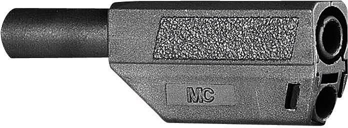 Bezpečnostná lamelová zástrčka Stäubli SLS425-SE/Q/N – zástrčka, rovná, Ø hrotu: 4 mm, čierna, 1 ks