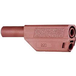 Bezpečnostna lamelová zástrčka Stäubli SLS425-SE/Q - zástrčka, rovná, Ø hrotu: 4 mm, červená, 1 ks