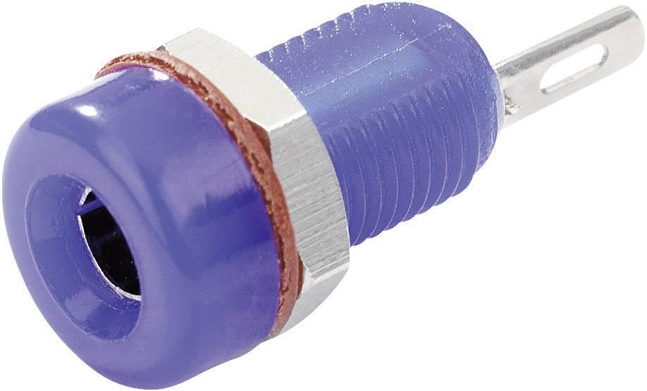 Laboratórna zásuvka SCI R1-16A Blue – zásuvka, vstavateľná vertikálna, Ø hrotu: 4 mm, modrá, 1 ks