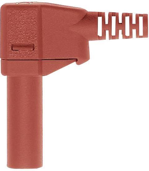Lamelová zástrčka Stäubli SLS425-SW – zástrčka, zahnutá, Ø hrotu: 4 mm, červená, 1 ks