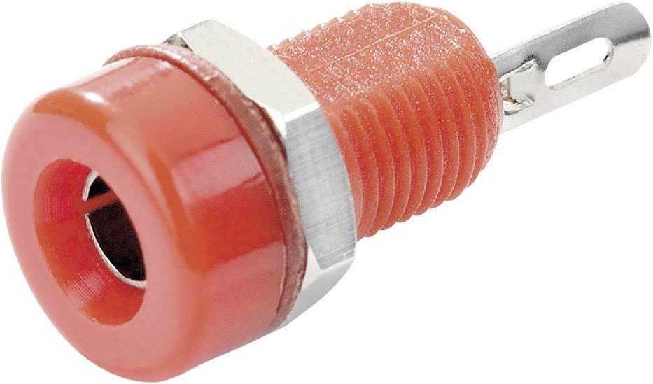 Laboratórna zásuvka SCI R1-16A Red – zásuvka, vstavateľná vertikálna, Ø hrotu: 4 mm, červená, 1 ks