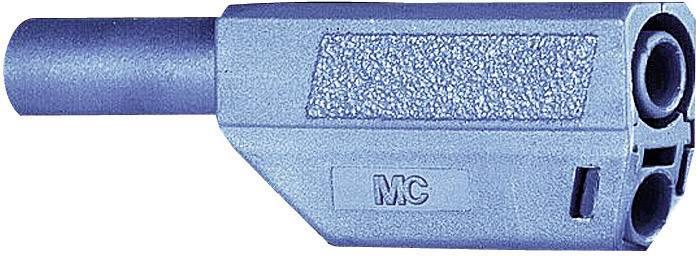 Bezpečnostná lamelová zástrčka Stäubli SLS425-SE/Q/N – zástrčka, rovná, Ø hrotu: 4 mm, modrá, 1 ks