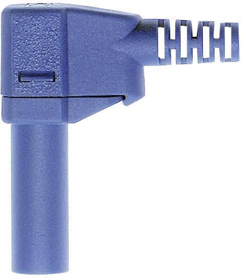 Lamelová zástrčka Stäubli SLS425-SW – zástrčka, zahnutá, Ø hrotu: 4 mm, modrá, 1 ks