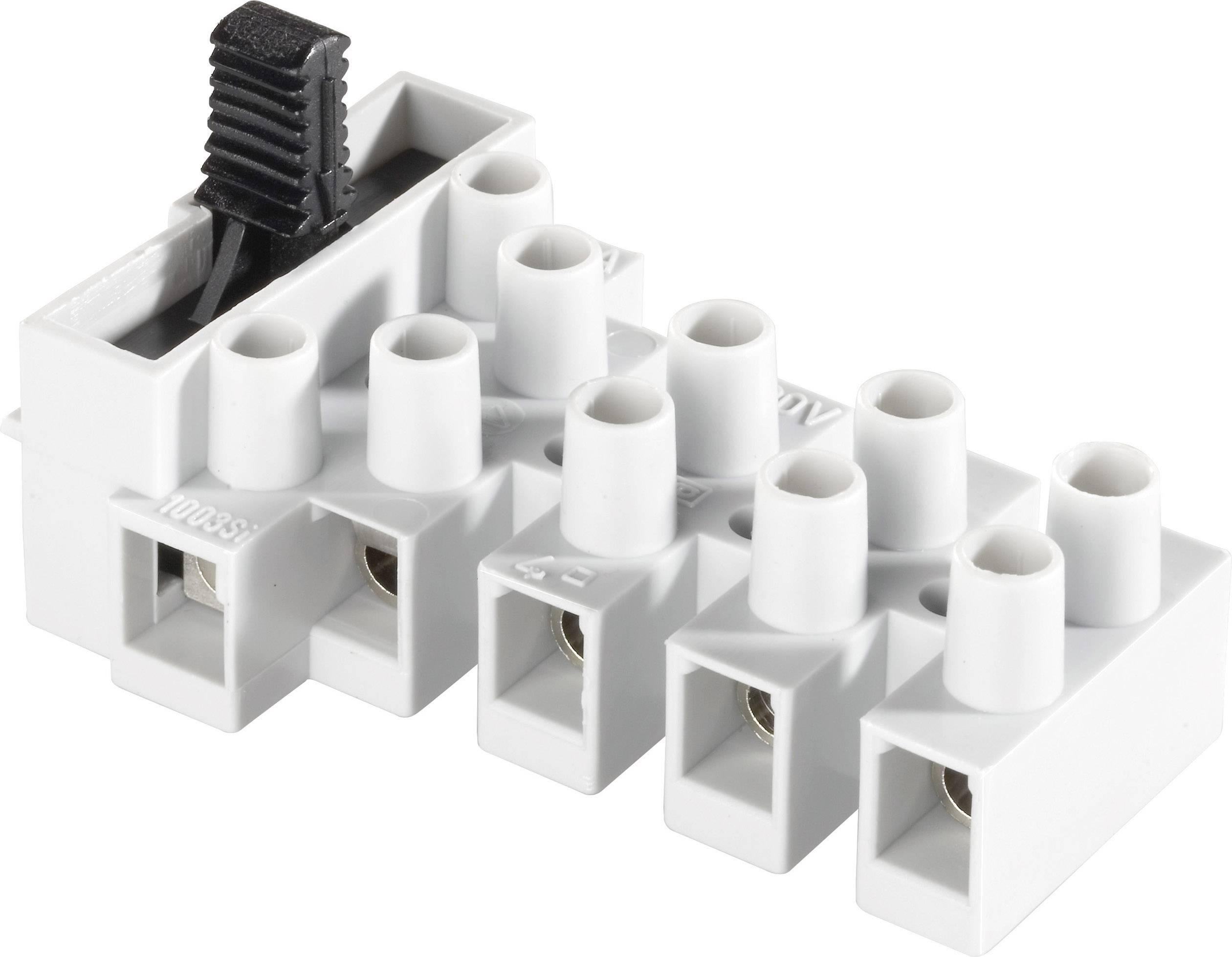 Svietidlové svorky Adels-Contact 1003 SI/3 DS na kábel s rozmerom 0.5-4 mm², pólů 5, 1 ks, prírodná
