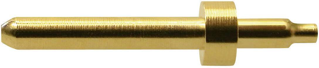 Bezpečnostní konektor MultiContact 42.0001, zástrčka vestavná vertikální, (Ø) 1 mm, zlatá