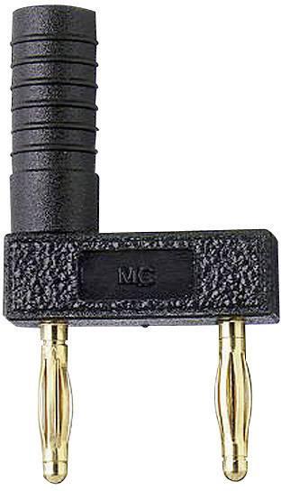 Spojovací konektor Stäubli KS2-12L/1SA/A, Ø hrotu 2 mm, rozostup hrotov 12 mm, čierna, 1 ks