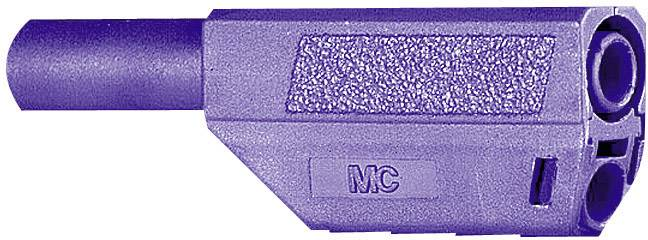 Bezpečnostná lamelová zástrčka Stäubli SLS425-SE/Q/N – zástrčka, rovná, Ø hrotu: 4 mm, fialová, 1 ks