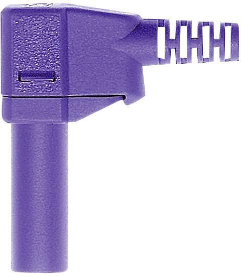 Lamelová zástrčka Stäubli SLS425-SW – zástrčka, zahnutá, Ø hrotu: 4 mm, fialová, 1 ks