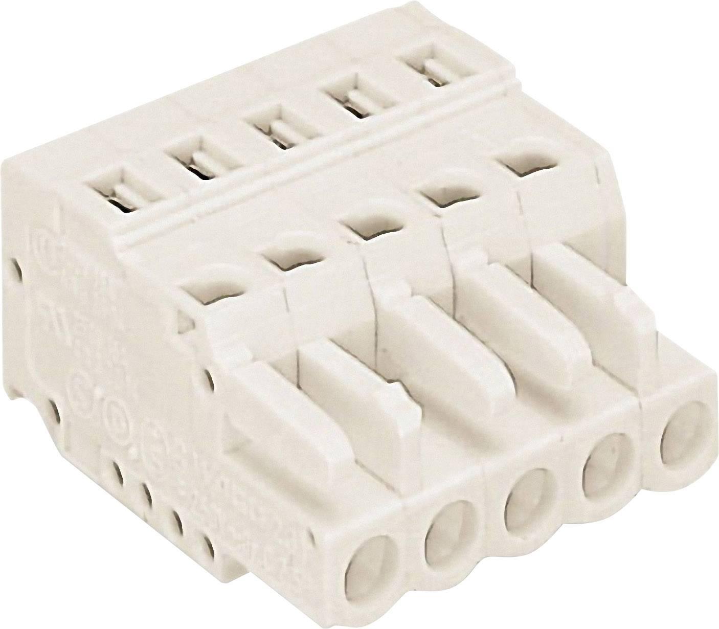 Zásuvkové púzdro na kábel WAGO 721-103/026-000, počet pólov 3, raster 5 mm, 1 ks