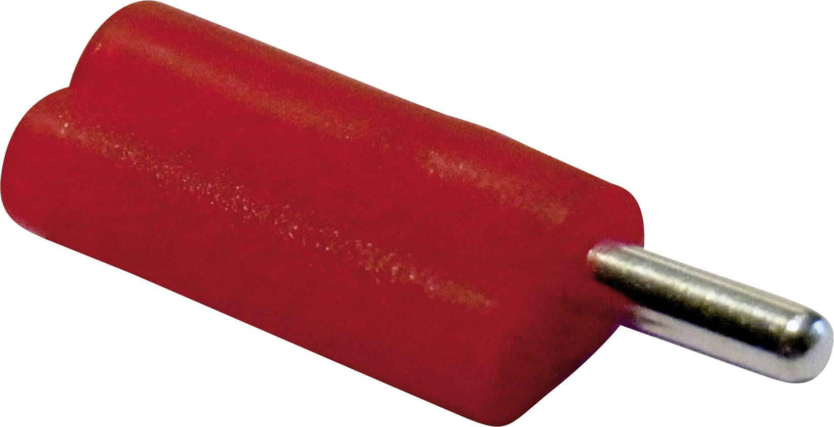 Banánkový konektor Schnepp, zástrčka, rovná, Ø pin: 2 mm, F 2020, červená