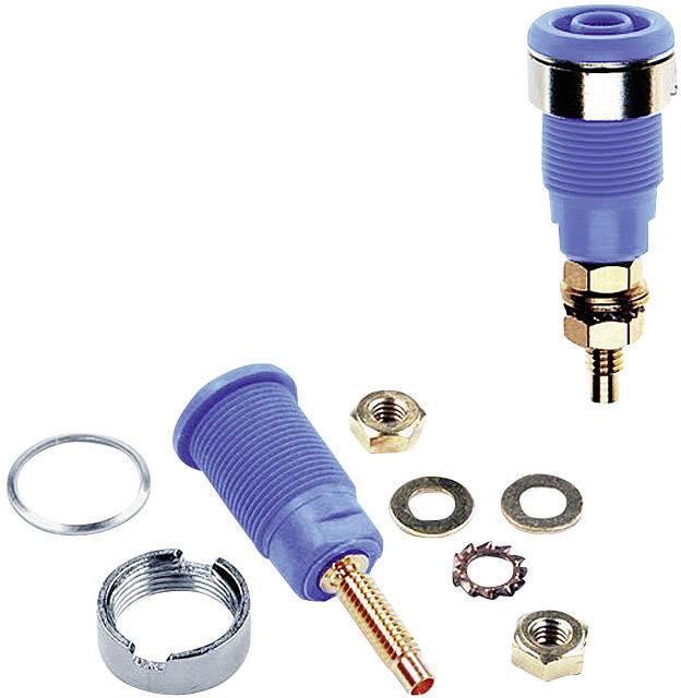 Bezpečnostná laboratórna zásuvka Stäubli SLB4-G – zásuvka, vstavateľná, modrá, 1 ks