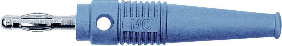 Lamelová zástrčka Stäubli L-41Q – zástrčka, rovná, Ø hrotu: 4 mm, modrá, 1 ks