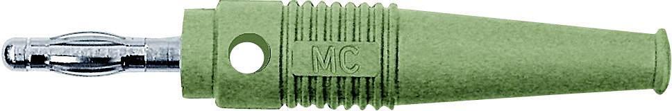 Lamelová zástrčka Stäubli L-41Q – zástrčka, rovná, Ø hrotu: 4 mm, zelená, 1 ks