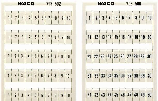 Karta pro značení Wago 793-5602, bílá